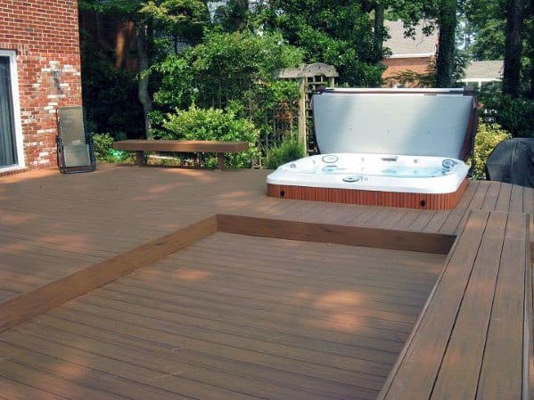 Excellent Backyard Ideas Hot Tub Deck