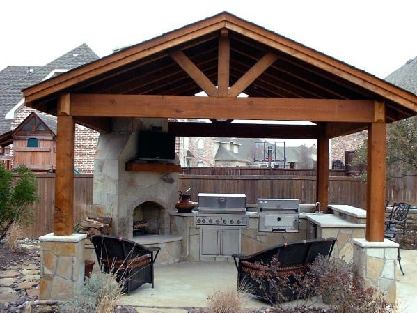 Excellent Backyard Ideas Patio Wood Pergola Roof