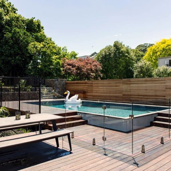 Excellent Backyard Ideas Pool Fence Glass Panels