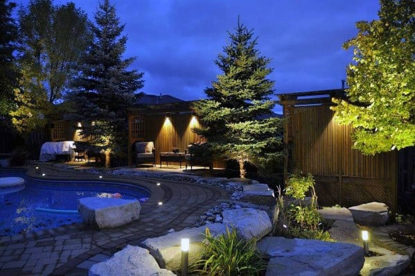 Excellent Backyard Ideas Pool Landscaping