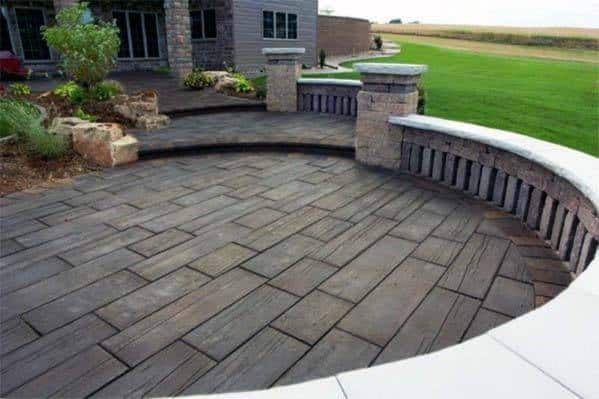 Excellent Backyard Ideas Stamped Concrete Patio