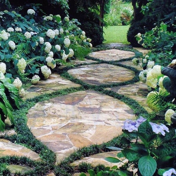 Excellent Backyard Outdoor Ideas Flagstone Walkway