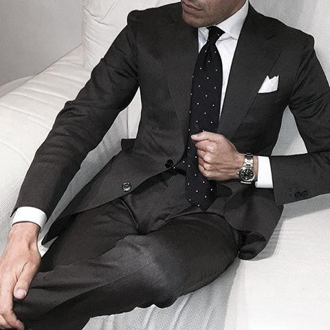Excellent Black Suit Styles For Men Small Dot Ties
