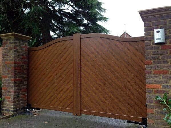 Excellent Exterior Driveway Ideas Composite Wooden Gate