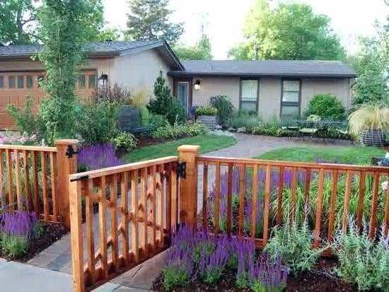 Excellent Exterior Ideas Front Yard Fence