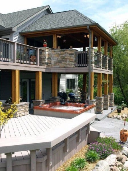 Excellent Exterior Ideas Hot Tub Deck