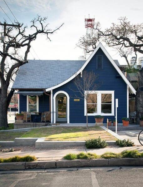 Excellent Exterior Ideas House Paint Blue With White Trim