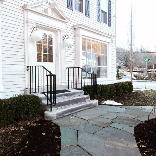 Excellent Exterior Ideas Stone Walkway Front Door