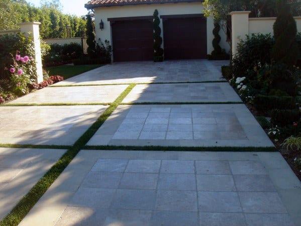 Excellent Front Yard Ideas Concrete Driveway
