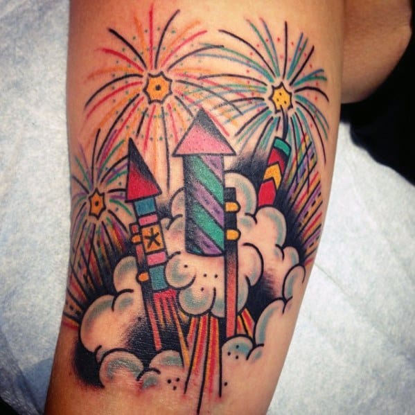 Excellent Guys Fireworks Tattoos