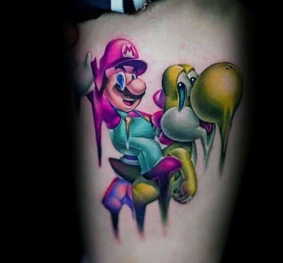 Excellent Guys Mario Tattoos