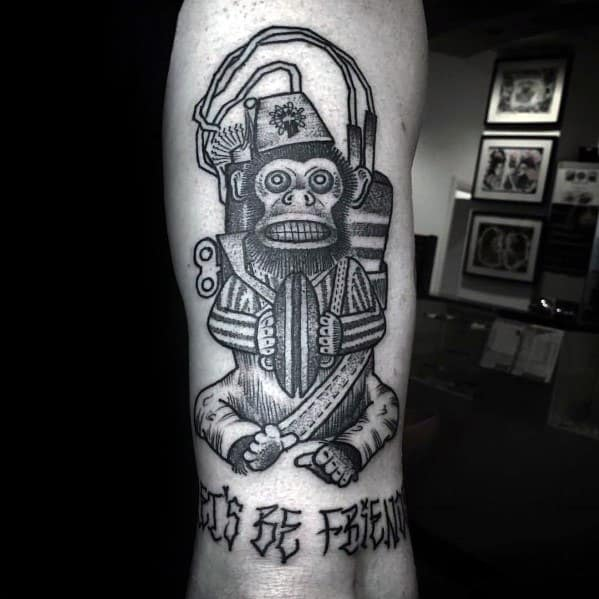 Excellent Guys Monkey Bomb Black Ink Call Of Duty Tattoos