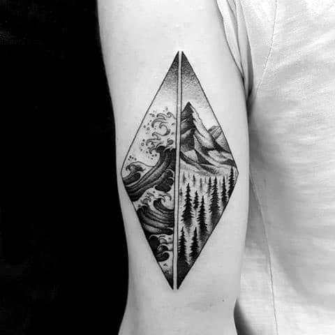 Excellent Guys Mountain Wave Tattoos