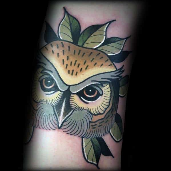 Excellent Guys Neo Traditional Owl Tattoos