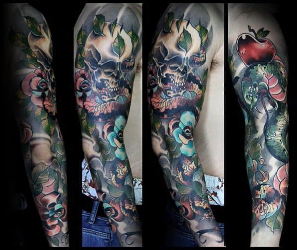 Excellent Guys Neo Traditional Snake Tattoos