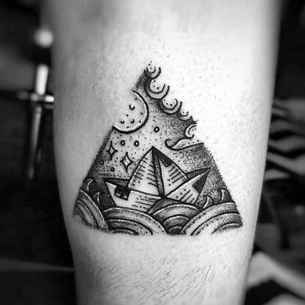 50 Paper Boat Tattoo Ideas For Men 2021 Inspiration Guide