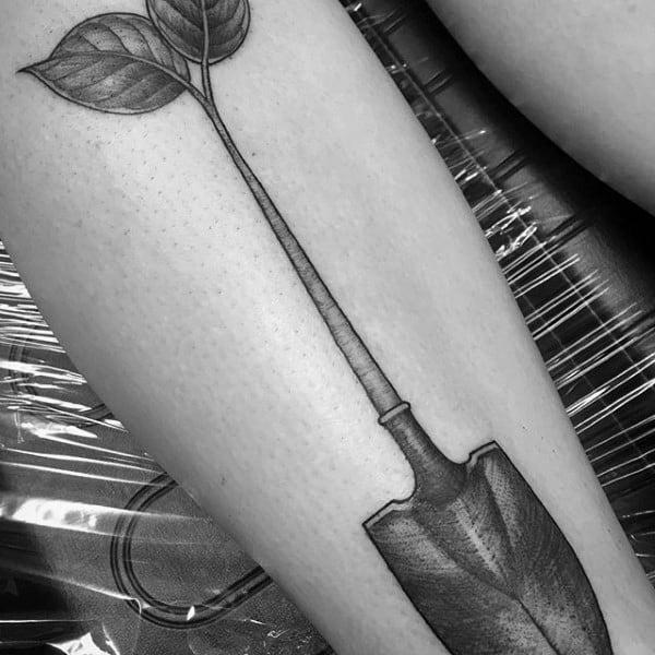 Excellent Guys Shovel Tattoos