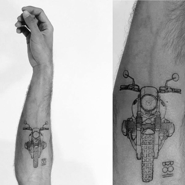 Excellent Guys Vintage Bmw Motorcycle Forearm Tattoos