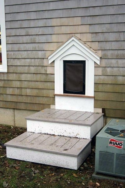 Excellent Home Ideas Doggy Door With Steps