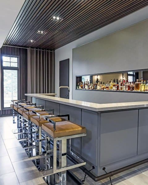Excellent Interior Ideas Bar Foot Rail
