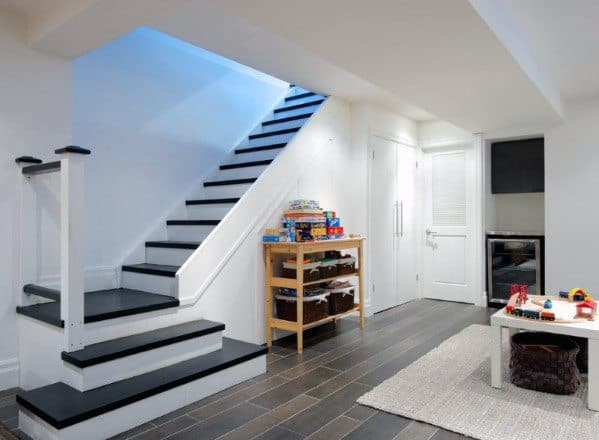 Excellent Interior Ideas Basement Stairs With Landing