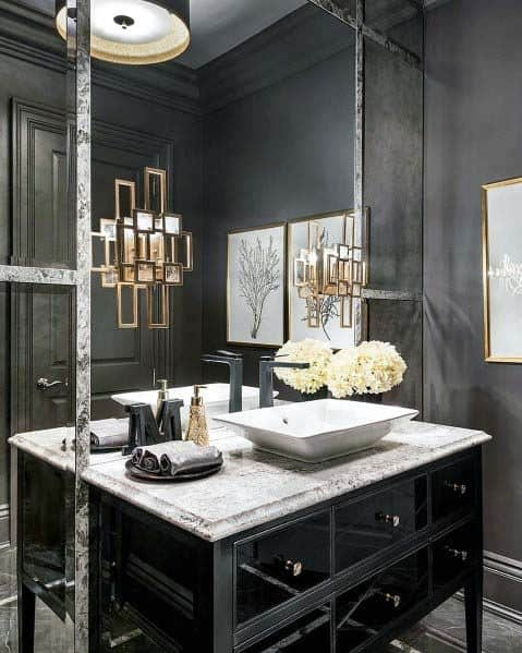 Excellent Interior Ideas Black Bathroom