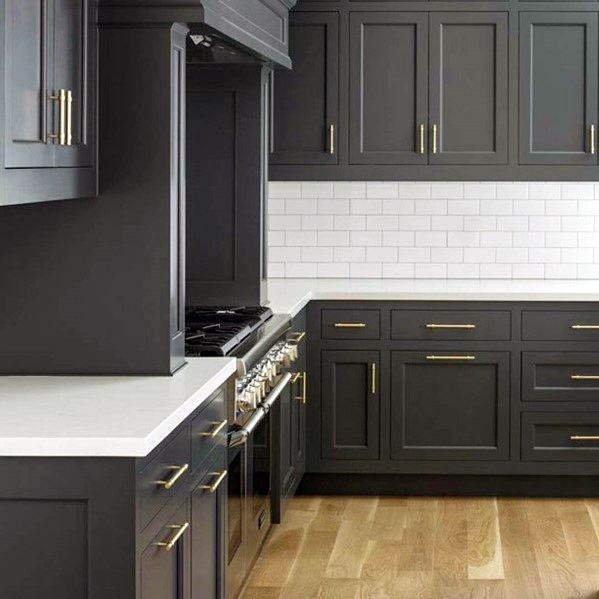 Excellent Interior Ideas Black Kitchen Cabinet