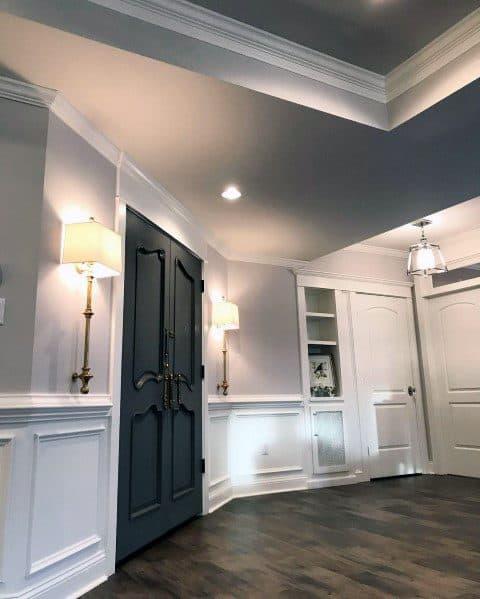 Excellent Interior Ideas Chair Rail Home Entry Hallway