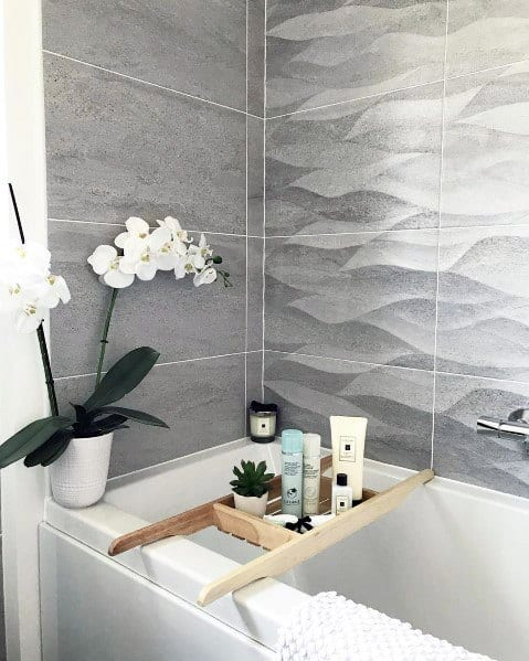 Excellent Interior Ideas Grey Bathroom Tile