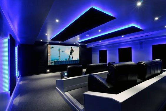 Excellent Interior Ideas Home Theater Lighting