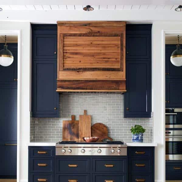 Excellent Interior Ideas Kitchen Hood Wooden