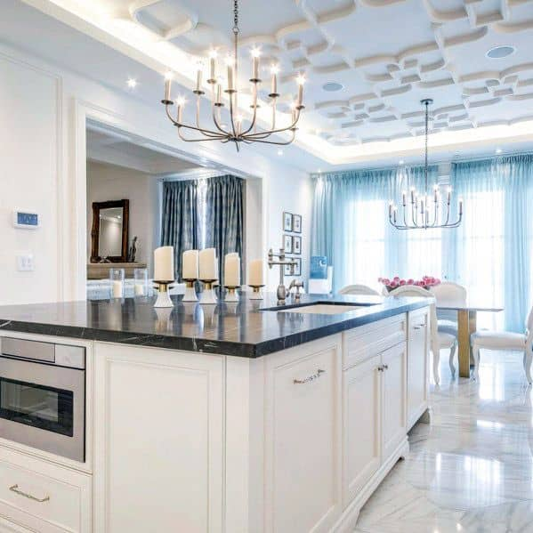 Excellent Interior Ideas Kitchen White Led Crown Molding Lighting