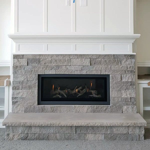 Excellent Interior Ideas Linear Fireplace