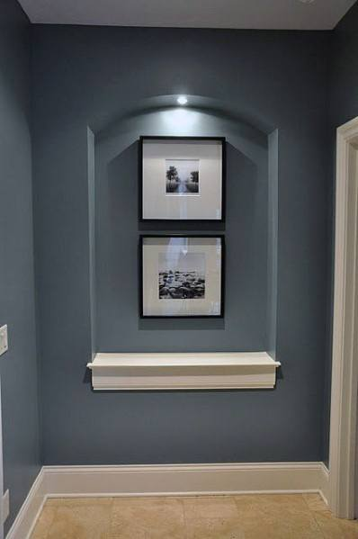 Excellent Interior Ideas Recessed Wall Niche For Hallway