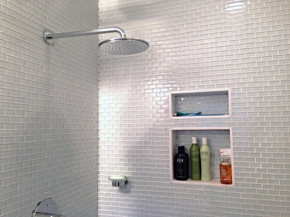Excellent Interior Ideas Small Grey Subway Tile Shower