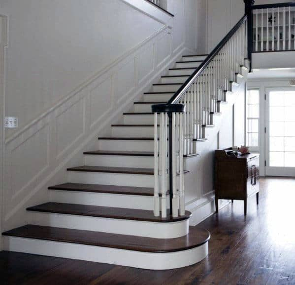 Beautiful Interior Staircase Ideas And Newel Post Designs: Top 70 Best Stair Railing Ideas