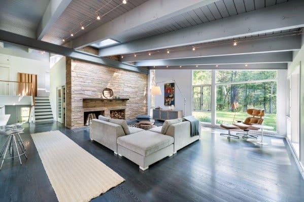 Excellent Interior Living Room Ideas Track Lighting