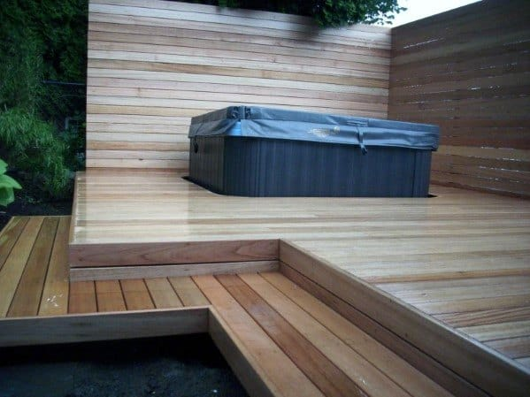Excellent Outdoor Ideas Hot Tub Floating Deck