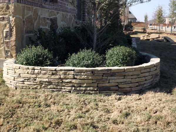 Excellent Stacked Stone Retaining Wall Ideas Stone Edging