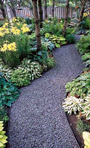 Excellent Walkway Ideas Grey Gravel Landscaping