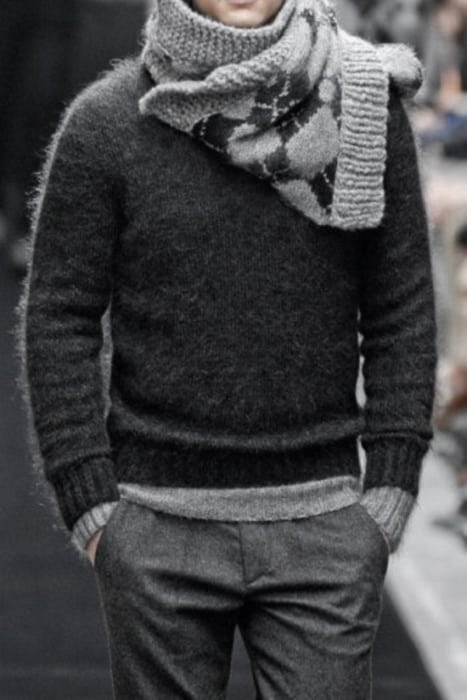 Excellent Winter Outfits Styles For Men All Grey Clothing