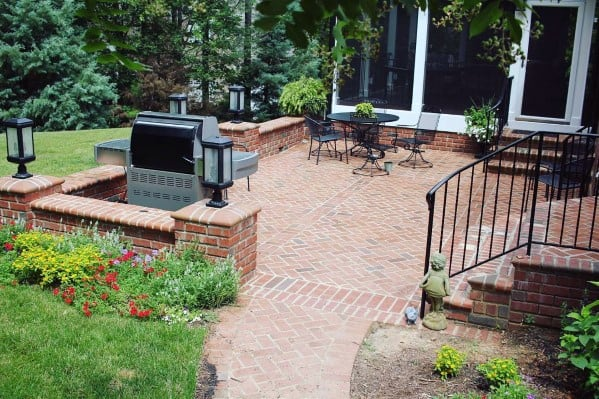 Top 50 Best Brick Patio Ideas - Home Backyard Designs on Backyard Masonry Ideas id=17328