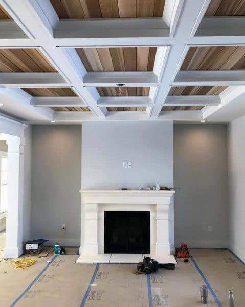 Exceptional Coffered Ceiling Ideas For Living Room