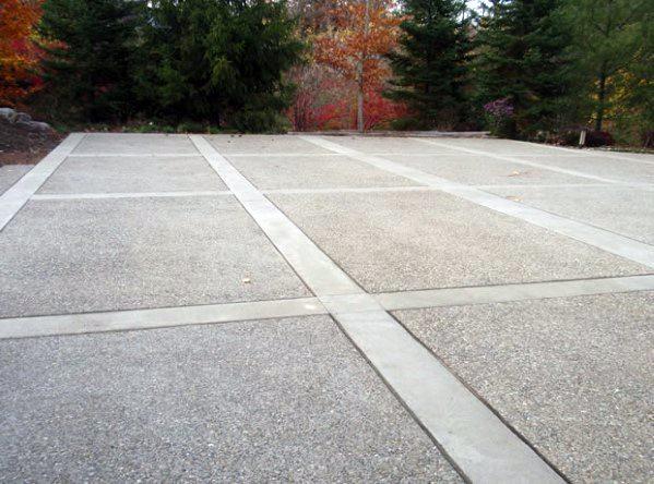 Top 50 Best Concrete Driveway Ideas - Front Yard Exterior ...