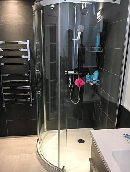 Exceptional Curved Glass Corner Shower Ideas