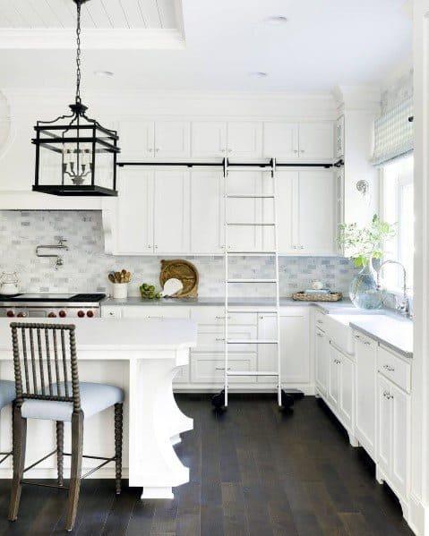 Exceptional Dark Brown Hardwood Kitchen Flooring Ideas