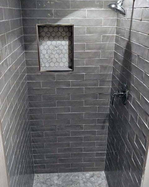 Exceptional Dark Grey Subway Tile Shower Ideas