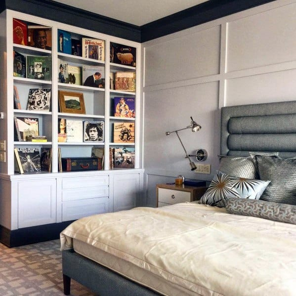 Exceptional Floor To Ceiling Bookshelves Ideas For Bedroom