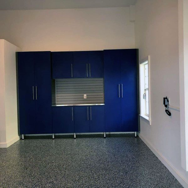 Exceptional Garage Cabinet Ideas Blue