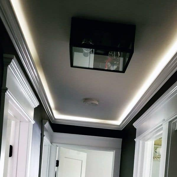 Exceptional Hallway Crown Molding Lighting Ideas